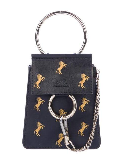 Chloé Mini Faye Bracelet Bag Blue