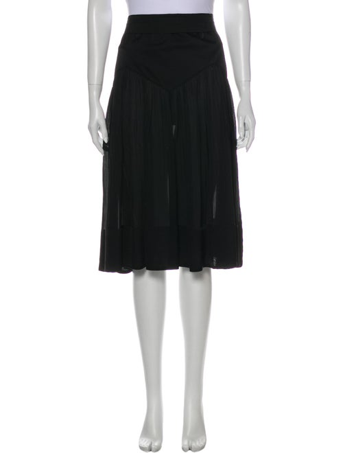 Chloé Silk Knee-Length Skirt Black