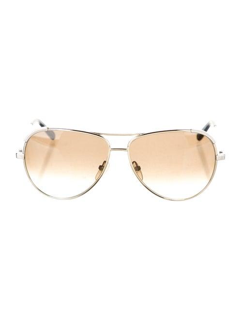Chloé Gradient Aviator Sunglasses Gold
