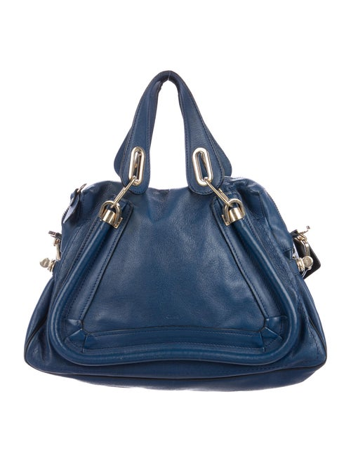 Chloé Small Paraty Military Bag Blue