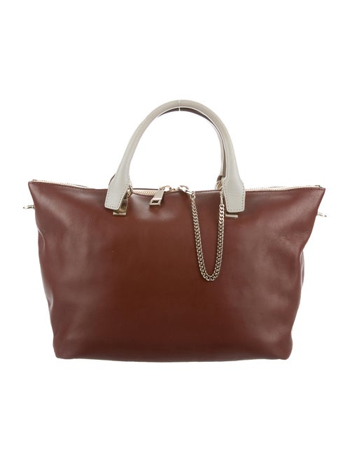 Chloé Leather Baylee Tote Brown