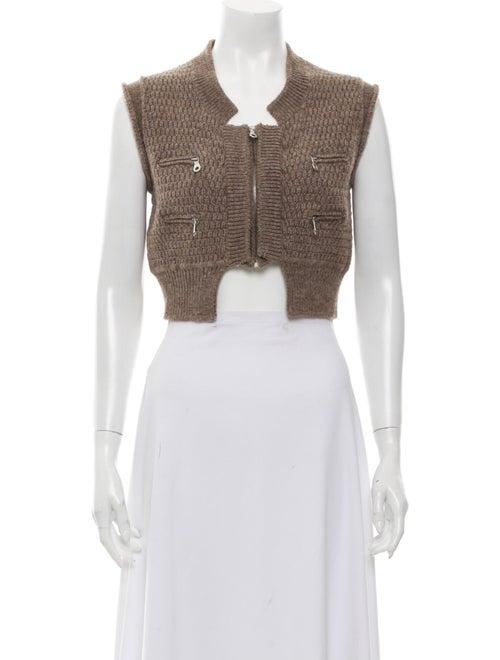 Chloé Wool Square Neckline Sweater Wool