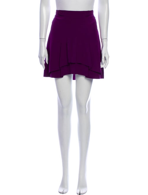 Chloé Silk Mini Skirt Purple