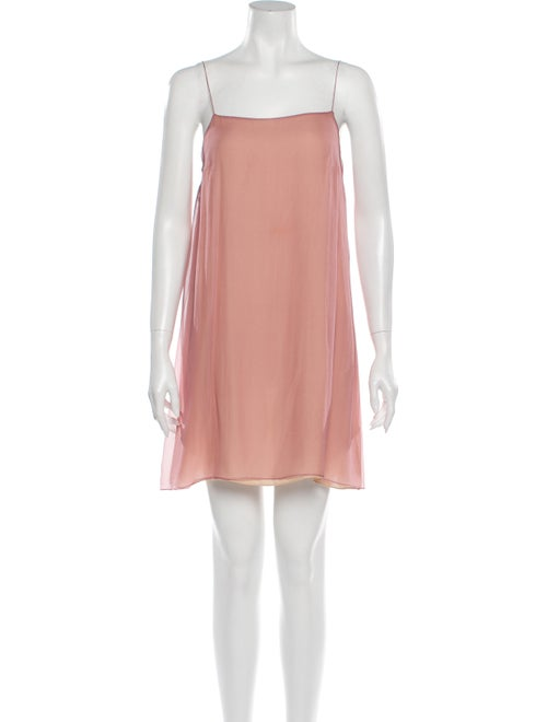 Chloé Silk Mini Dress Pink