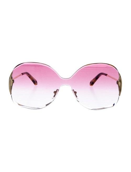 Chloé Rimless Round Sunglasses gold