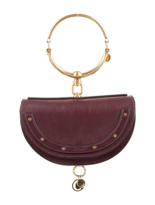 Chloé Small Nile Minaudière Bracelet Bag Gold