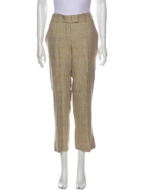Chloé Tweed Pattern Wide Leg Pants