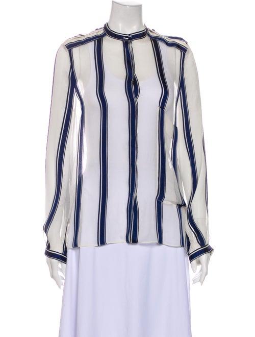 Chloé Silk Striped Blouse White