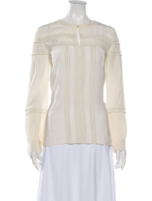 Chloé Silk Off-The-Shoulder Blouse