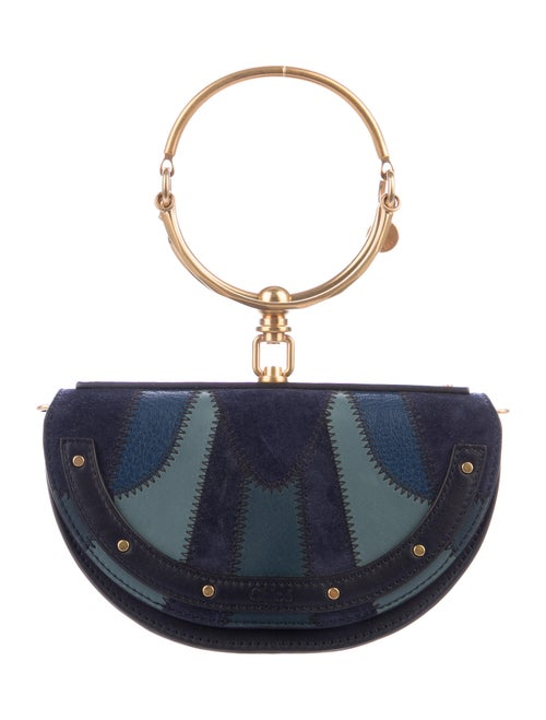 Chloé Small Patchwork Nile Bracelet Bag Black