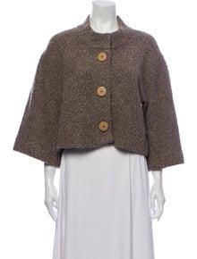 Chloé Wool Tweed Pattern Bolero