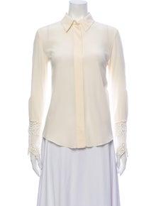 Chloé Silk Long Sleeve Button-Up Top w/ Tags