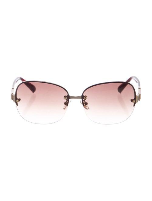 Chloé Round Rimless Sunglasses Brown