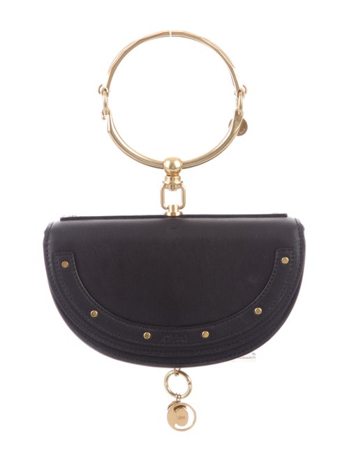 Chloé Small Nile Minaudière Bracelet Bag Black