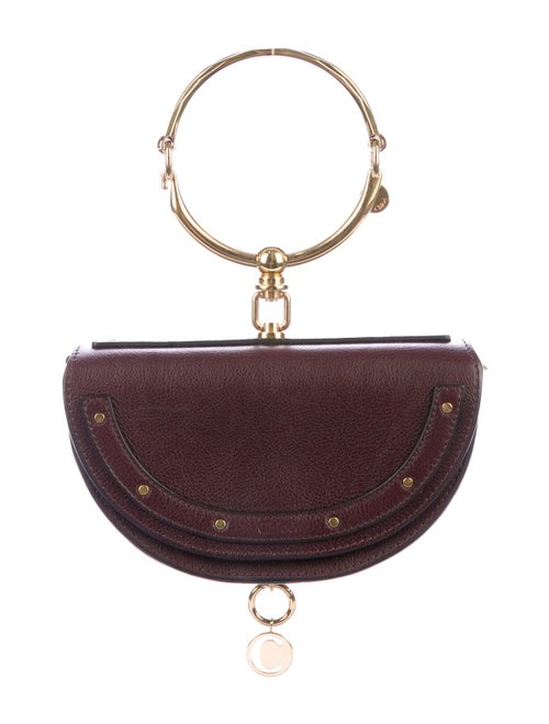 Chloé Small Nile Minaudière Bracelet Bag Purple
