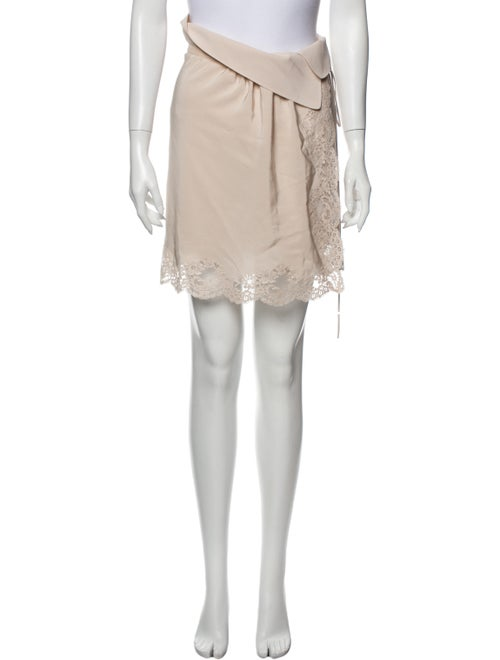 Chloé Silk Mini Skirt Pink