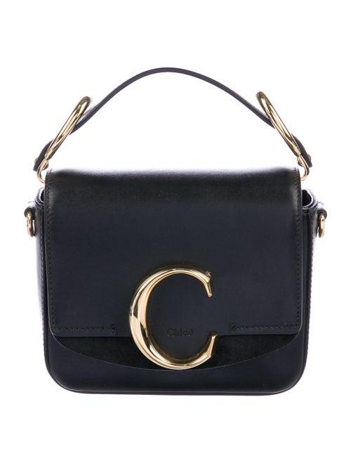 Chloé Mini Leather C Crossbody Bag Black