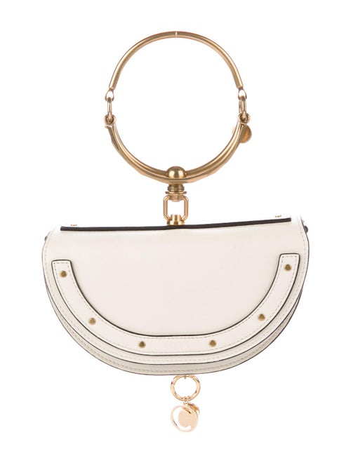 Chloé Small Nile Minaudière Bracelet Bag White
