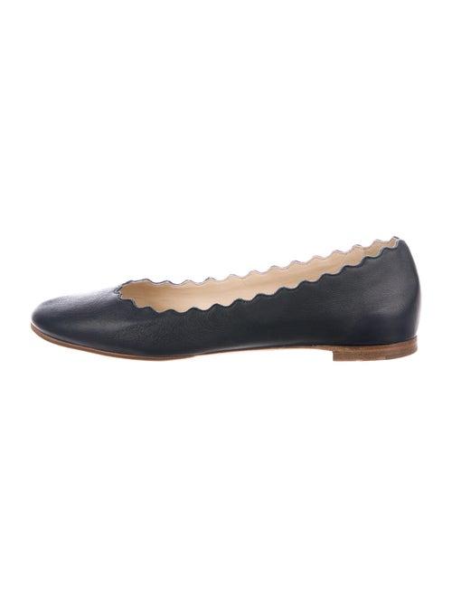 Chloé Lauren Leather Flats Blue