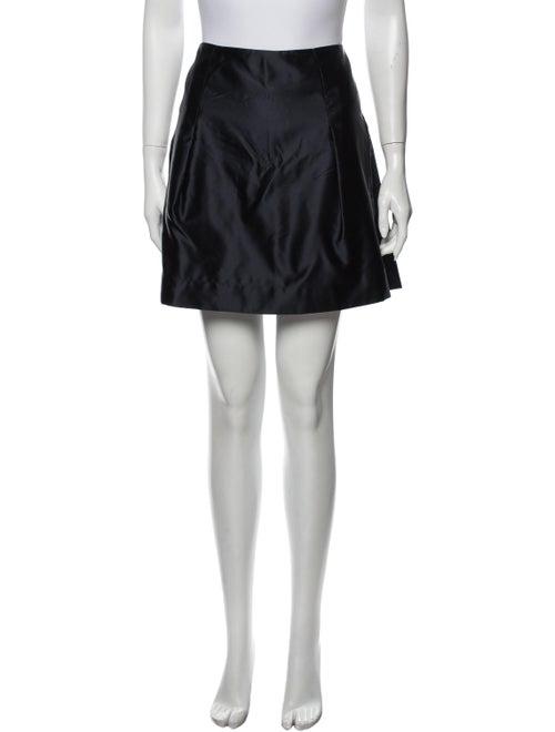 Chloé Silk Mini Skirt Blue