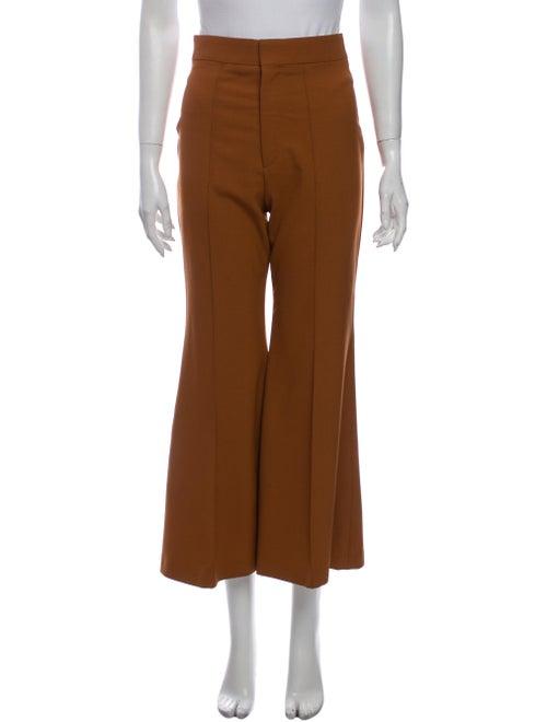 Chloé Wide Leg Pants Orange