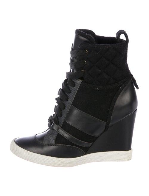 Chloé Lace-Up Boots Black