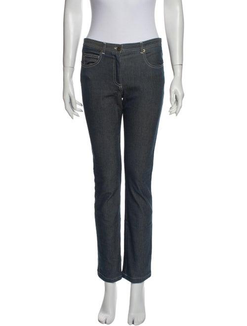 Chloé Mid-Rise Straight Leg Jeans Blue