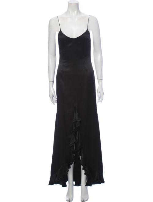 Chloé Silk Long Dress Black
