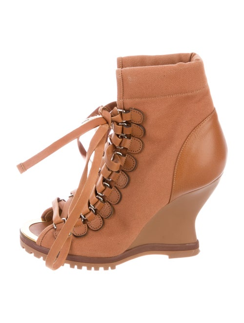 Chloé Lace-Up Boots Brown