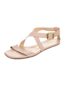 Chloé Leather Scalloped Accent Sandals