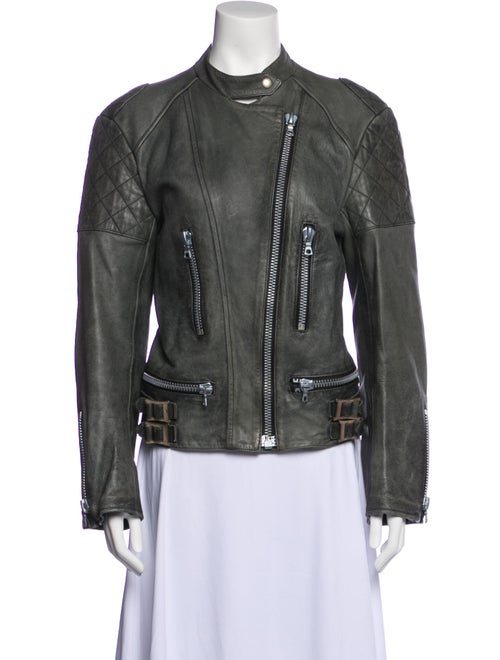 Chloé Biker Jacket Grey - image 1