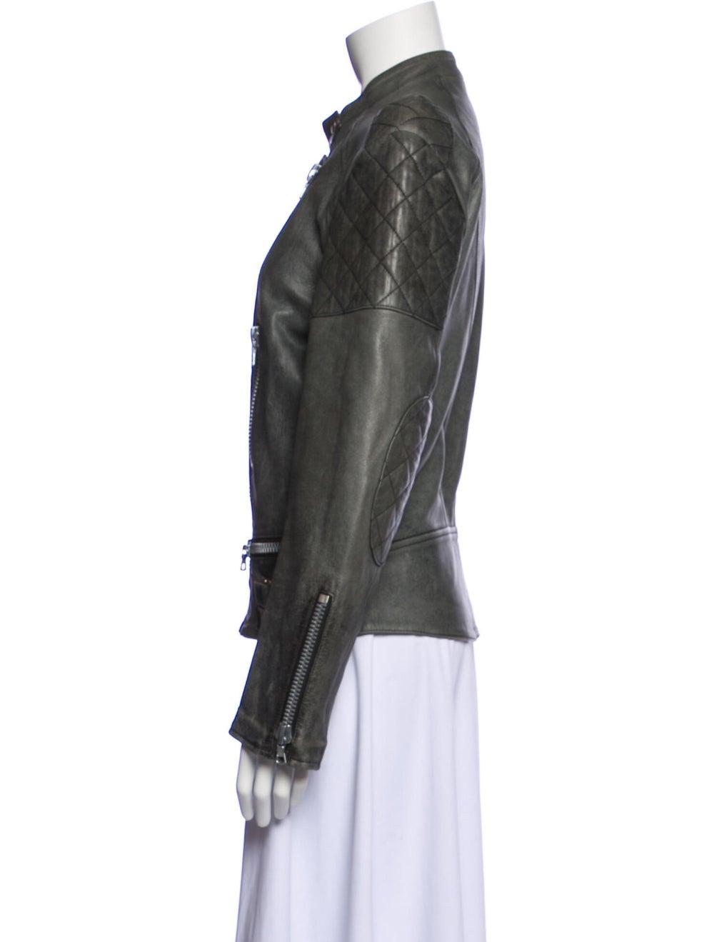 Chloé Biker Jacket Grey - image 2