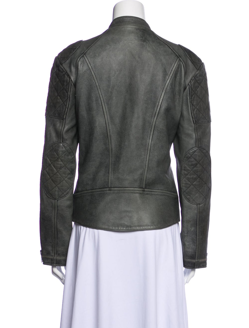 Chloé Biker Jacket Grey - image 3