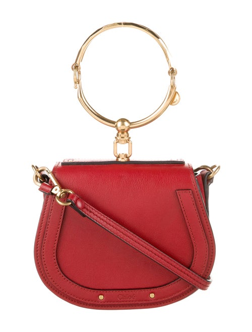 Chloé Nile Bracelet Bag Red