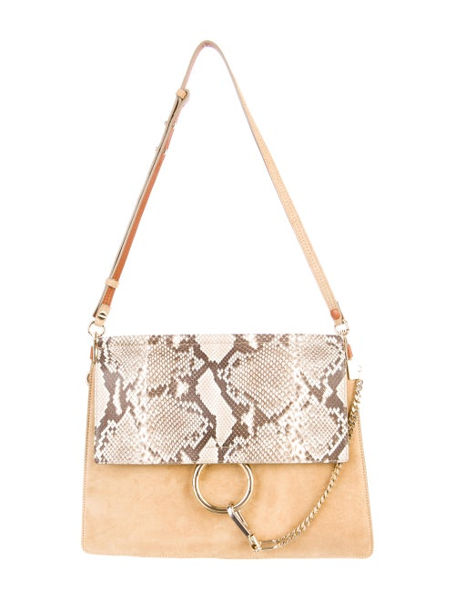 c4fc52295e8 Chloé Faye Python Flap Shoulder Bag w/ Tags - Handbags - CHL25685 ...