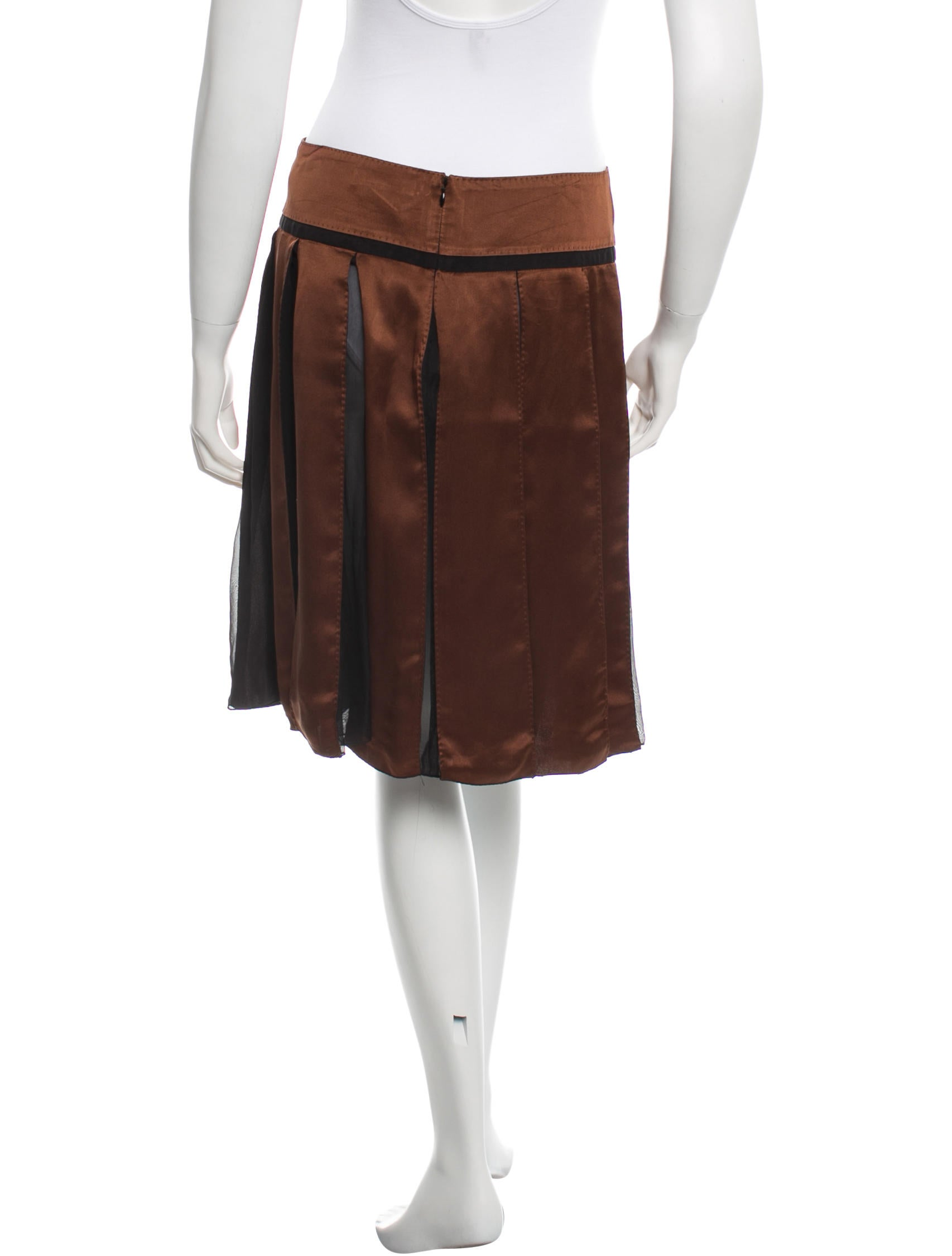 chlo 233 silk pleated skirt clothing chl34725 the realreal