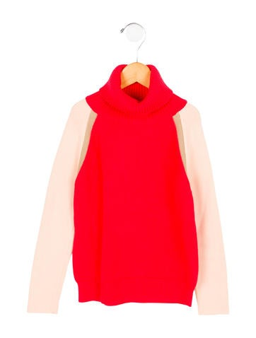 Chloé Girls' Turtleneck Colorblock Sweater w/ Tags None