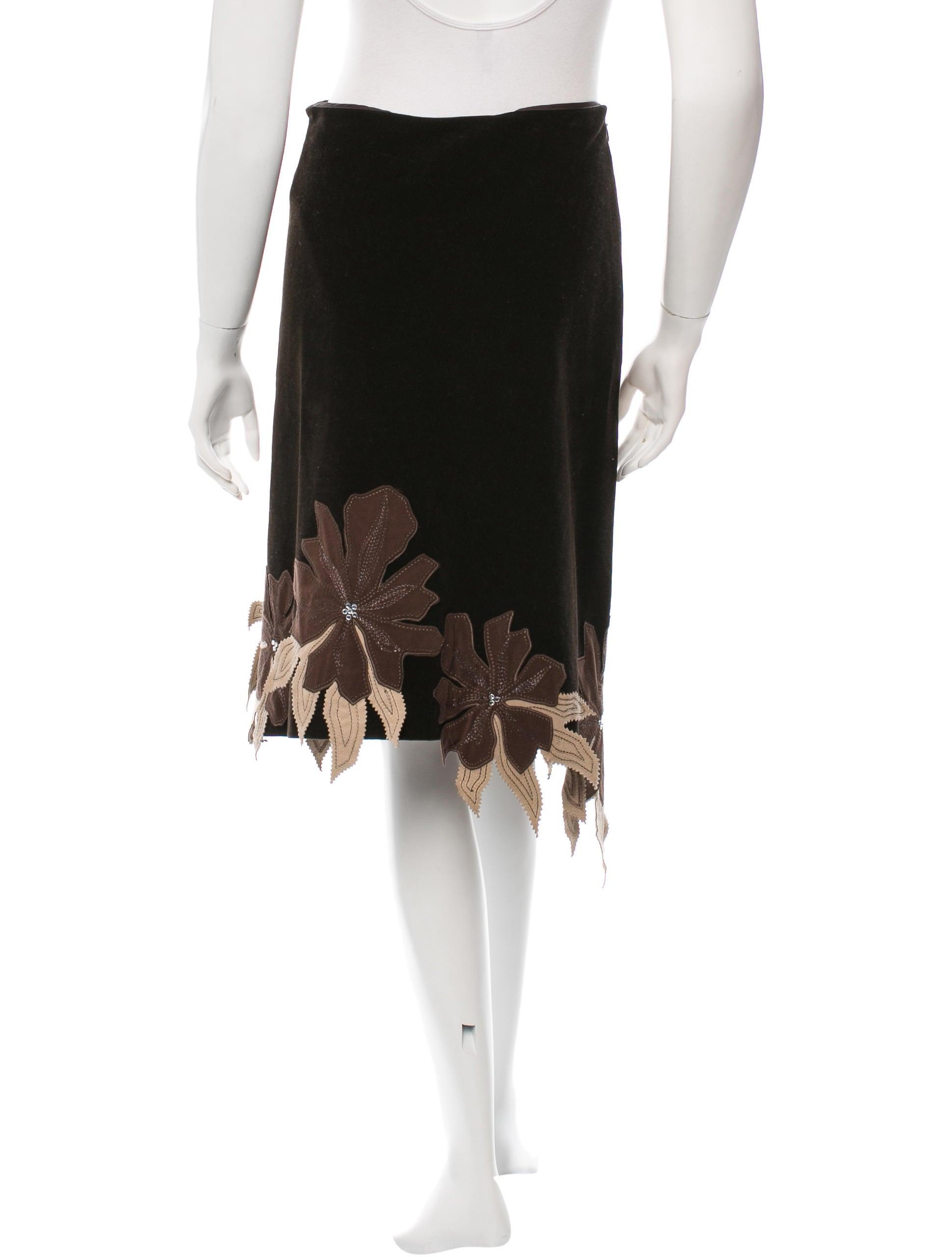 chlo 233 knee length corduroy skirt clothing chl35730