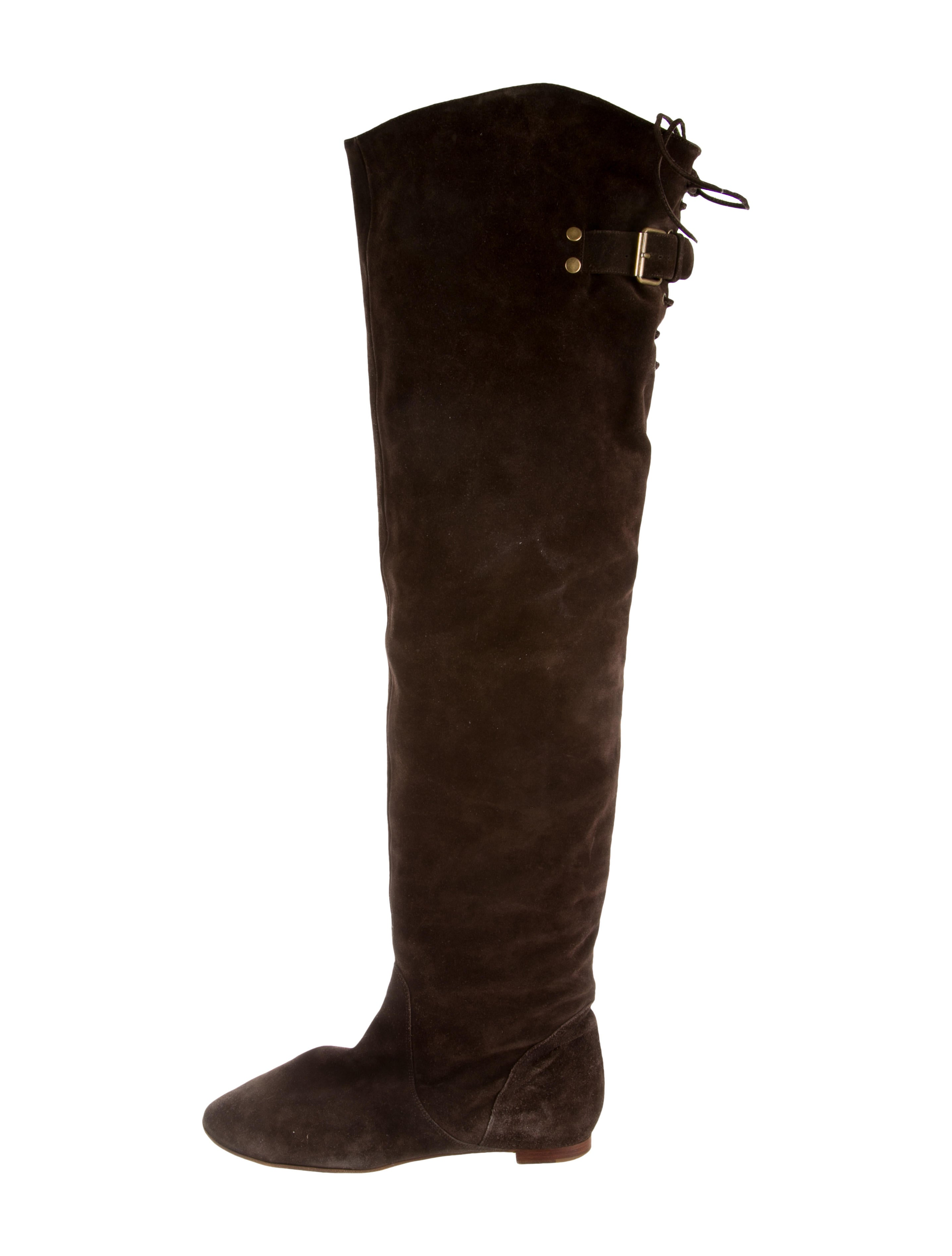 chlo 233 suede the knee boots shoes chl36712 the