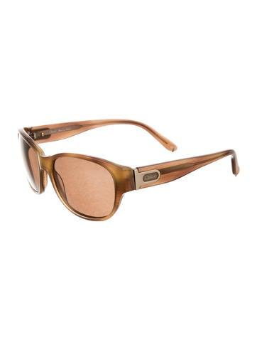 Enamel Circular Sunglasses