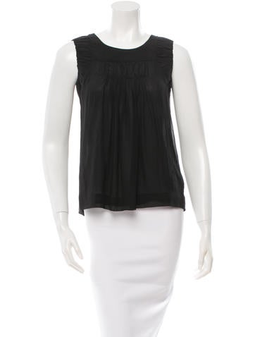 Chloé Silk Ruched Top None