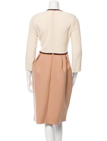 Colorblock Long Sleeve Dress