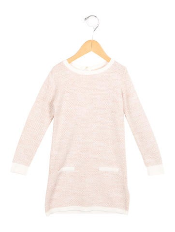 Chloé Girls' Metallic Sweater Dress None