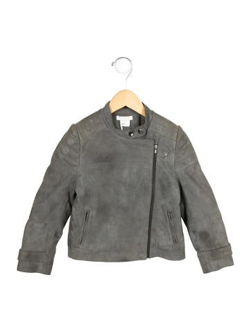 Chloé Girls' Suede Moto Jacket w/ Tags None