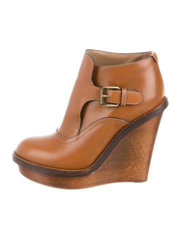 Leather Ankle Boot Wedges