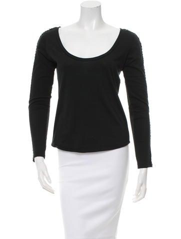 Chloé Embellished Long Sleeve Top