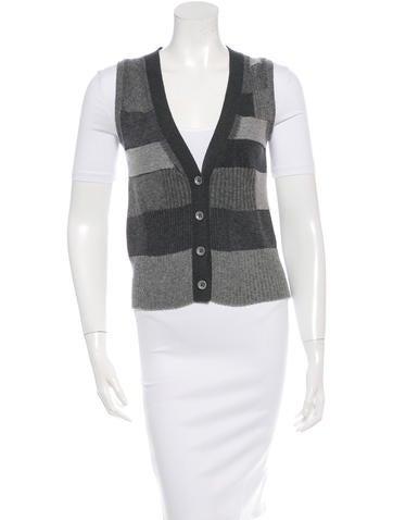 Chloé Cashmere Patchwork Vest None