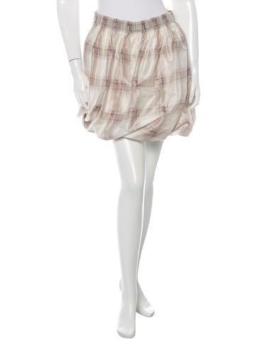 Chloé Plaid Mini Skirt None