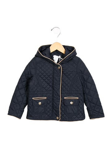 Chloé Girls' Quilted Hooded Jacket w/ Tags None