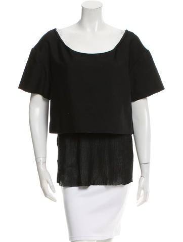 Chloé Layered Silk and Wool Top None